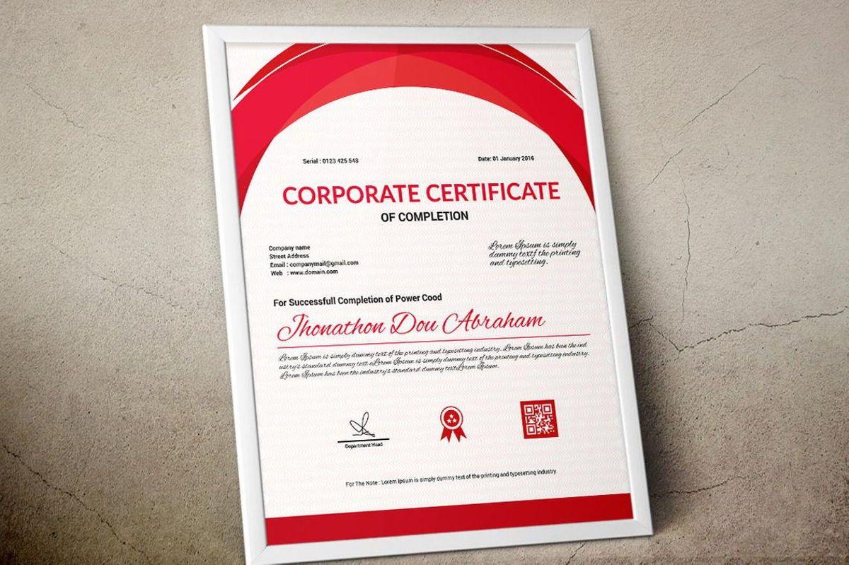 Vector Certificate Template, Slide 9, 08772, Business — PoweredTemplate.com