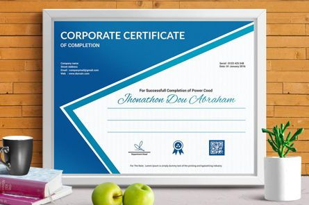 Business: Certificate Template in Vector Format #08773