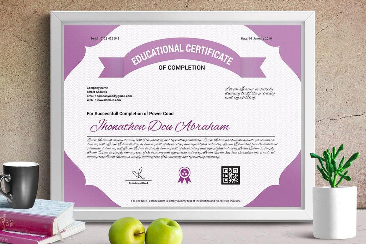Education Certificate of Completion, Slide 2, 08774, Business — PoweredTemplate.com
