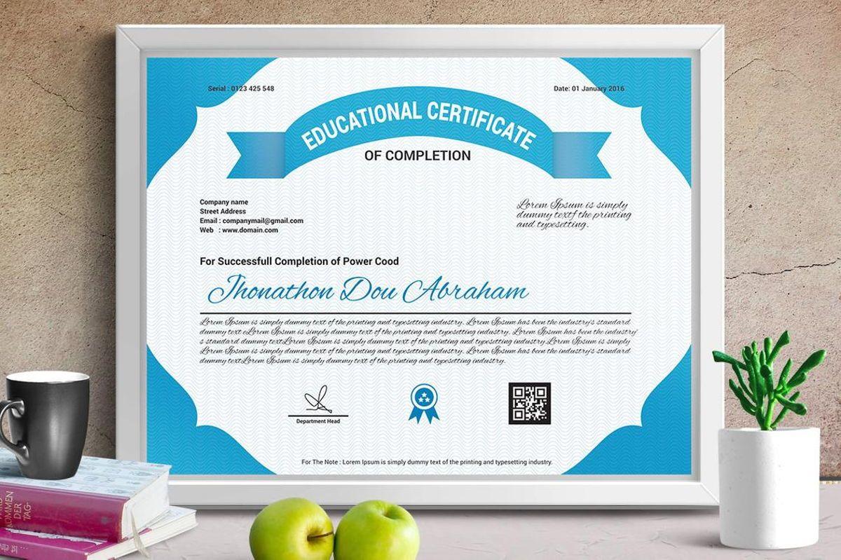 Education Certificate of Completion, Slide 3, 08774, Business — PoweredTemplate.com