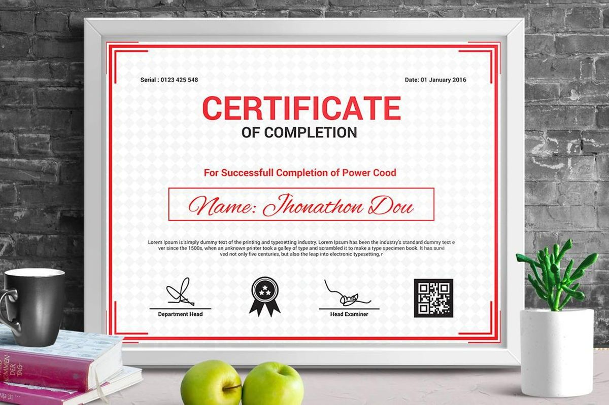 Modern Certificate of Completion Template, 08775, Business — PoweredTemplate.com