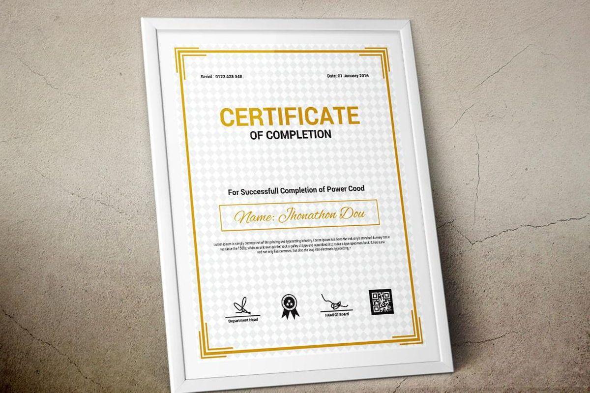Modern Certificate of Completion Template, Slide 10, 08775, Business — PoweredTemplate.com