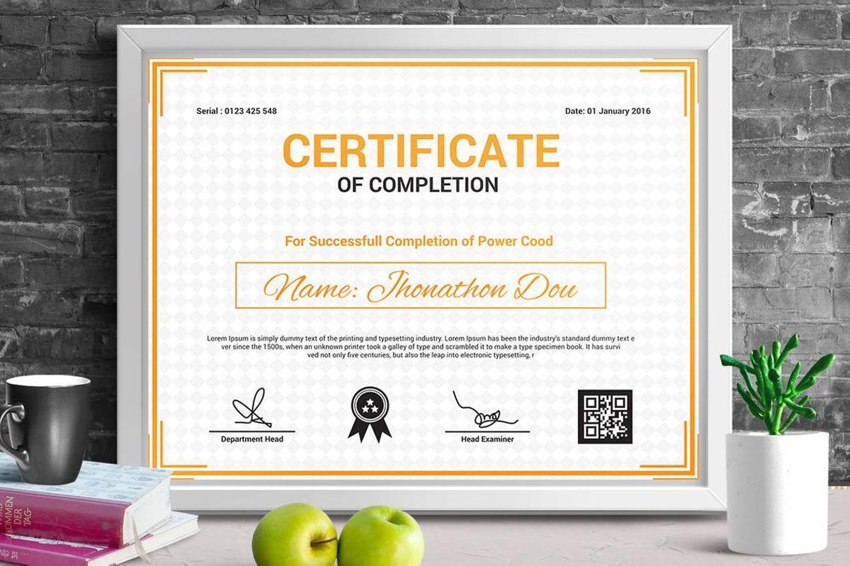 Modern Certificate of Completion Template, Slide 2, 08775, Business — PoweredTemplate.com