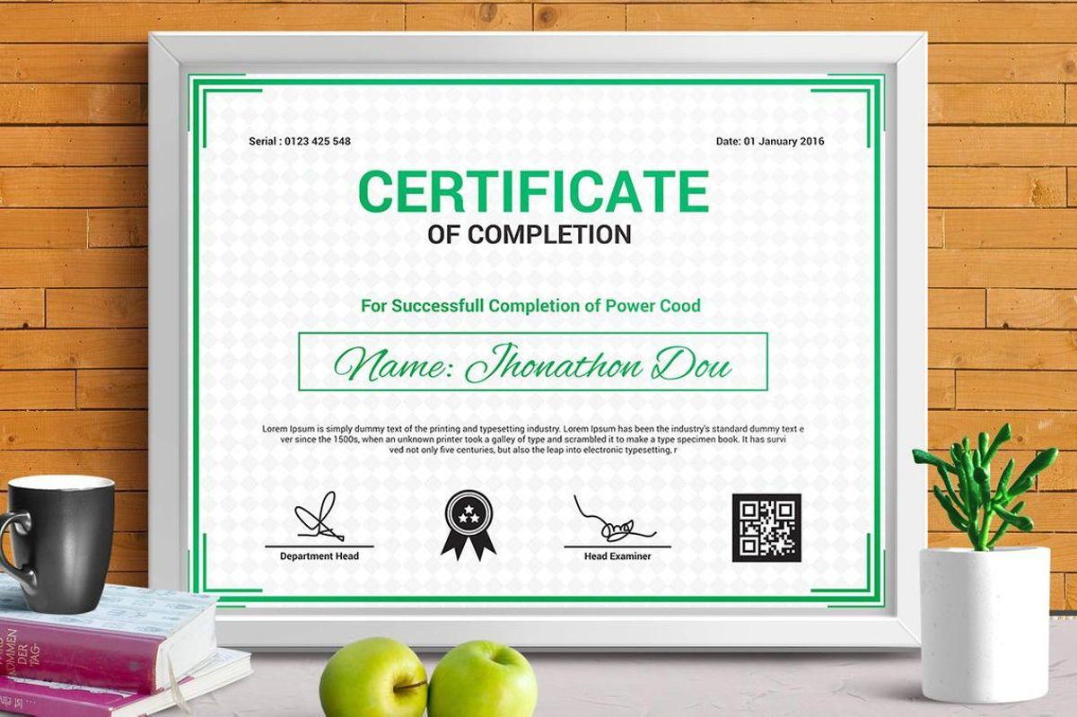 Modern Certificate of Completion Template, Slide 3, 08775, Business — PoweredTemplate.com