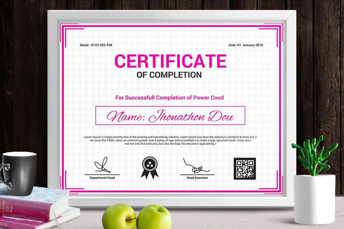 Modern Certificate of Completion Template, Slide 4, 08775, Business — PoweredTemplate.com