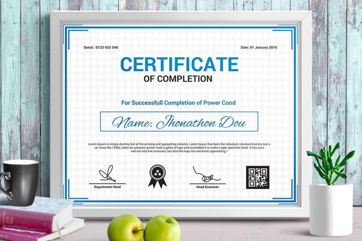 Modern Certificate of Completion Template, Slide 5, 08775, Business — PoweredTemplate.com