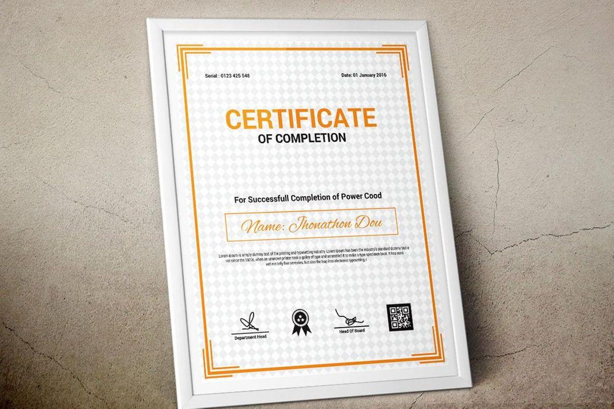 Modern Certificate of Completion Template, Slide 6, 08775, Business — PoweredTemplate.com