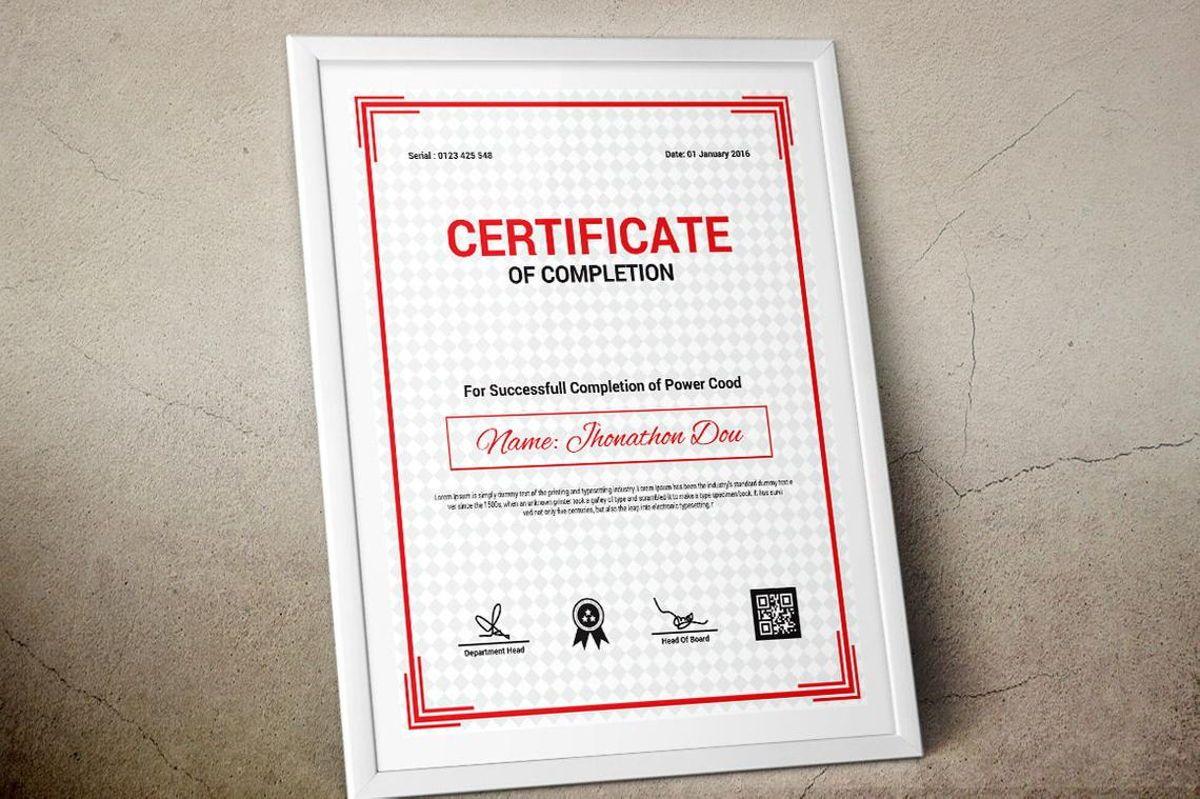 Modern Certificate of Completion Template, Slide 7, 08775, Business — PoweredTemplate.com
