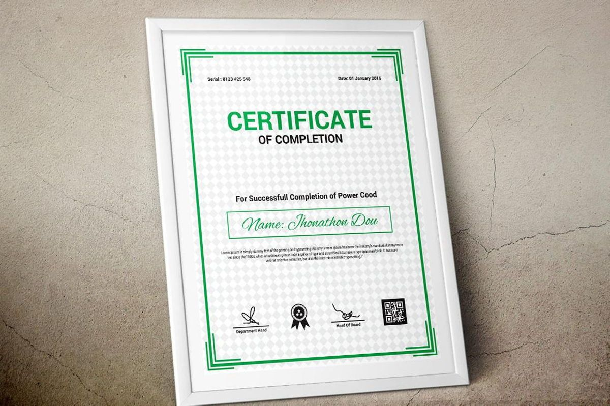 Modern Certificate of Completion Template, Slide 8, 08775, Business — PoweredTemplate.com