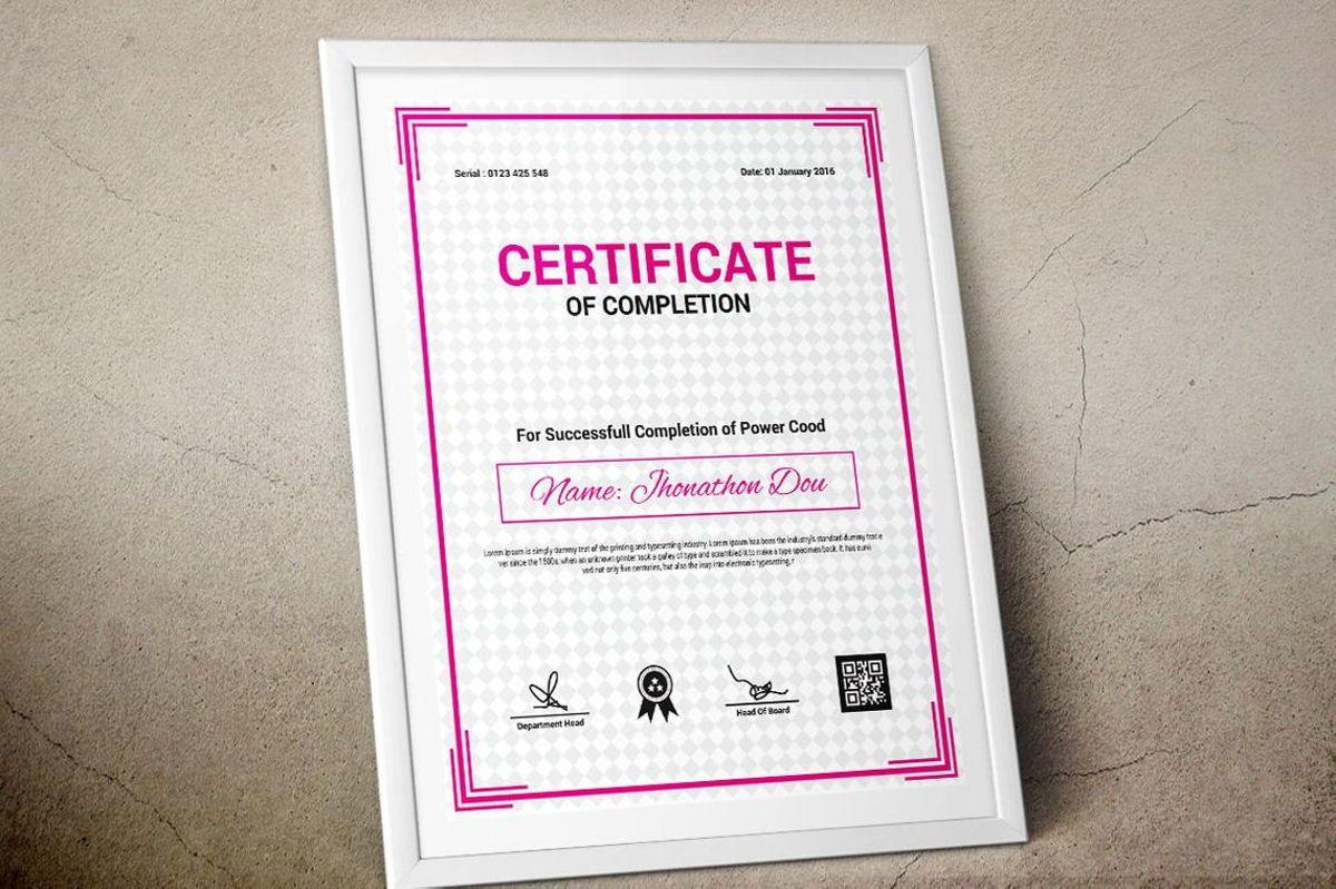 Modern Certificate of Completion Template, Slide 9, 08775, Business — PoweredTemplate.com