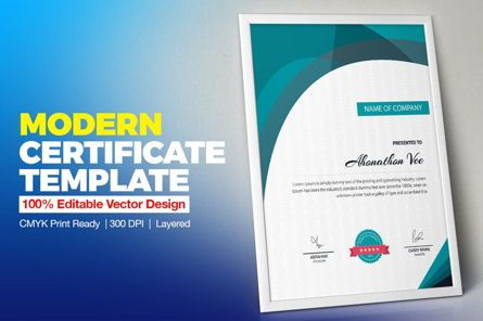 Business: Modern Certificate Template #08777