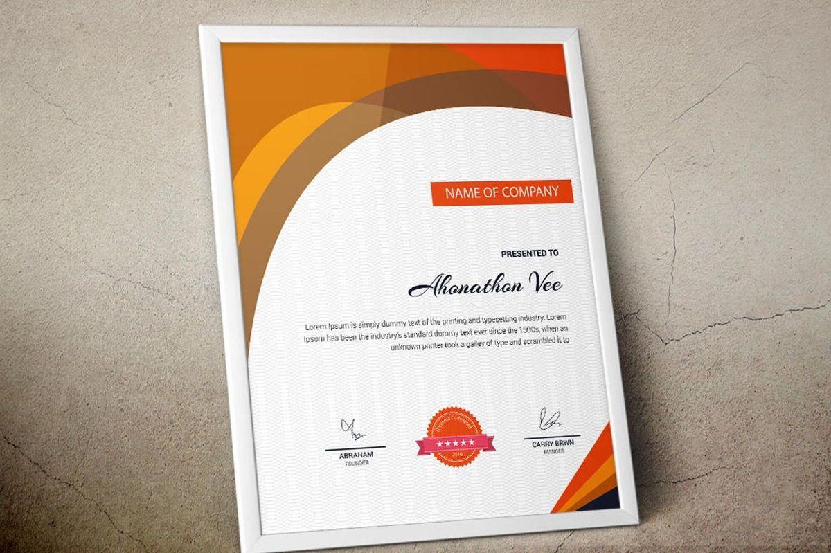 Modern Certificate Template, Slide 2, 08777, Business — PoweredTemplate.com
