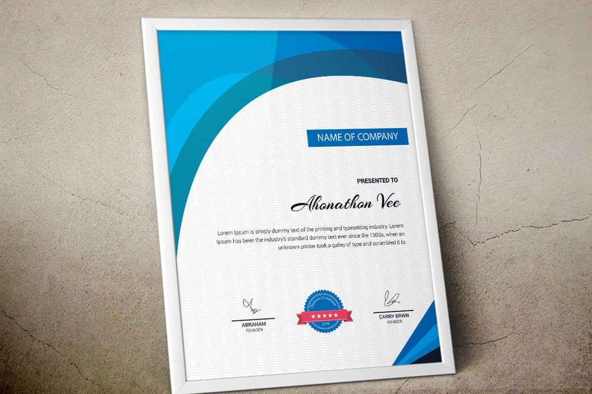 Modern Certificate Template, Slide 3, 08777, Business — PoweredTemplate.com