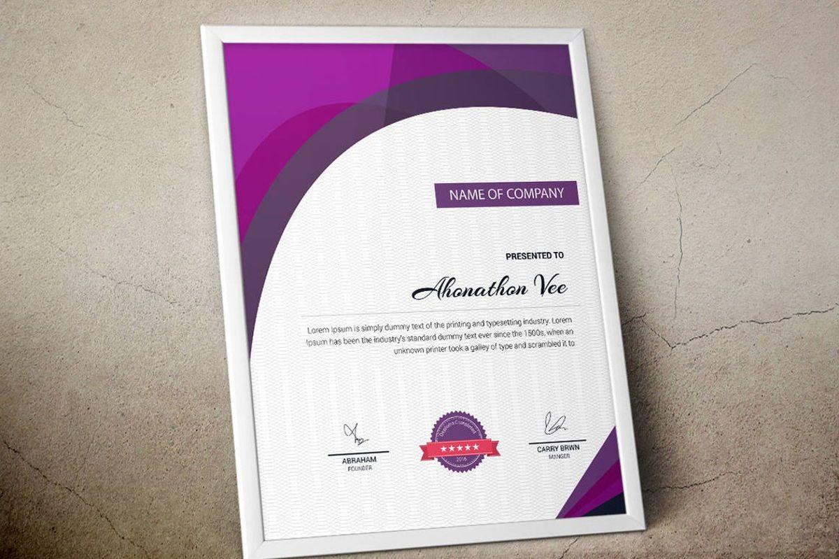 Modern Certificate Template, Slide 4, 08777, Business — PoweredTemplate.com