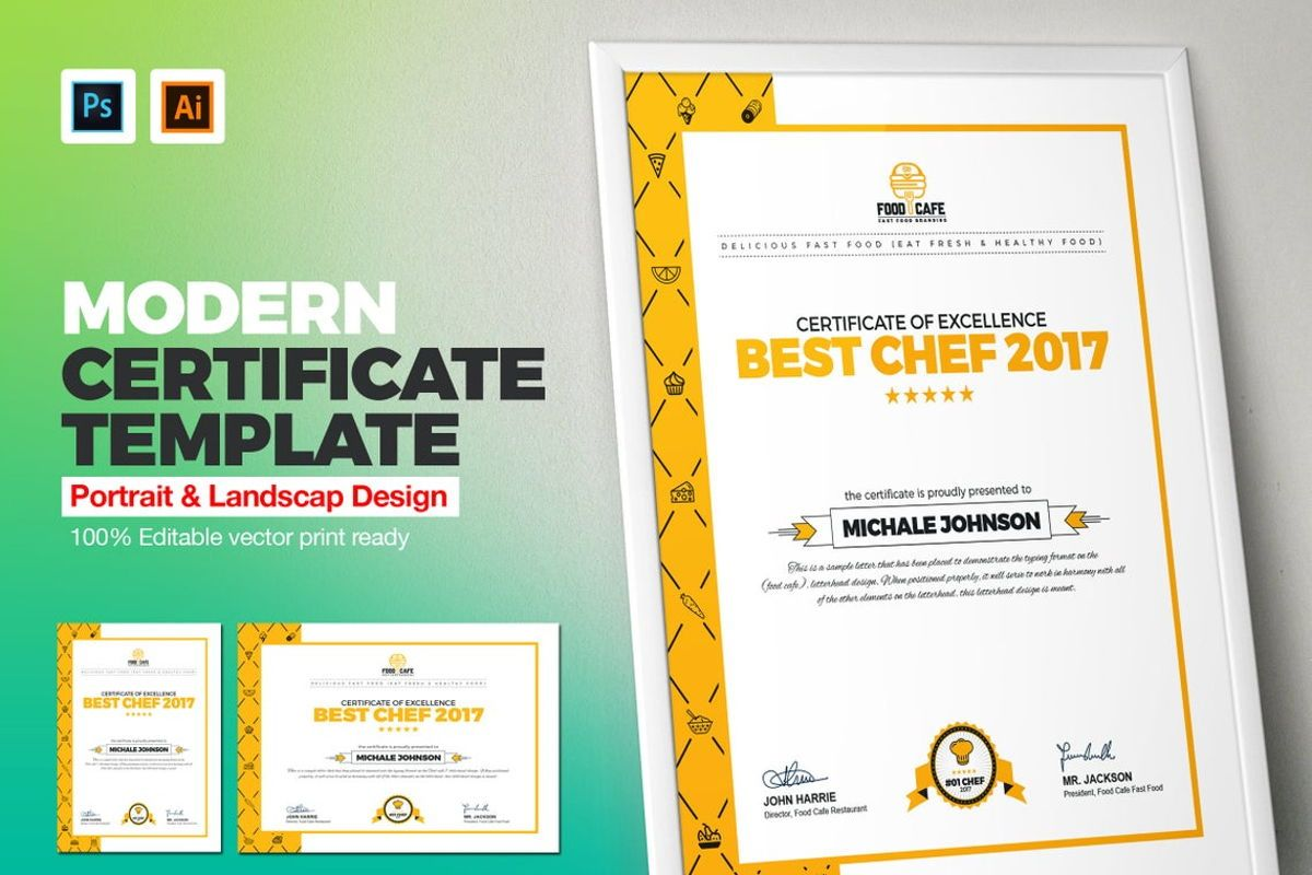 Certificate of Excellence Template, 08778, Business — PoweredTemplate.com