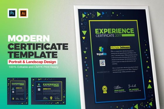 Business: Experience Certificate Template #08781