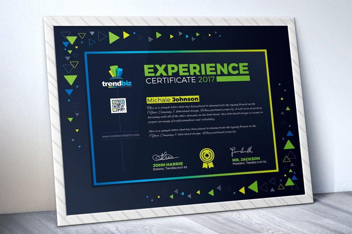 Experience Certificate Template, Slide 2, 08781, Business — PoweredTemplate.com