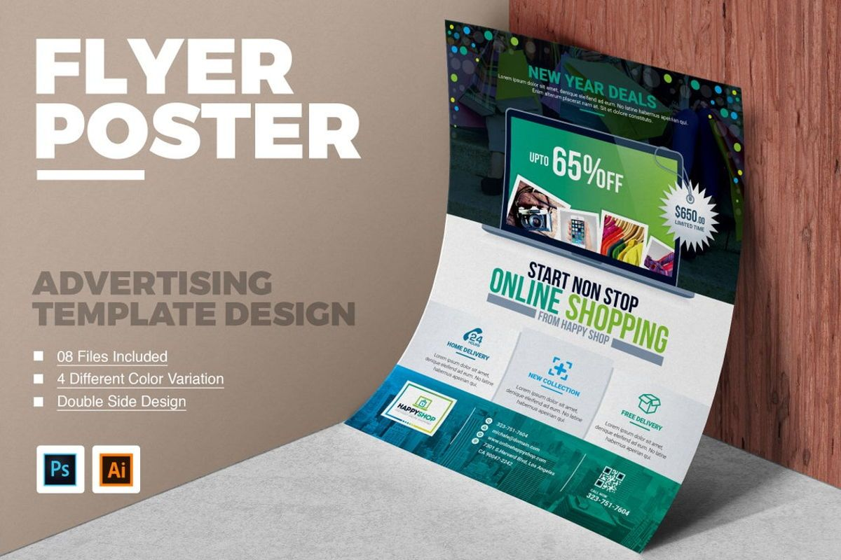 Product Promotional Flyer Poster Template, 08782, Careers/Industry — PoweredTemplate.com