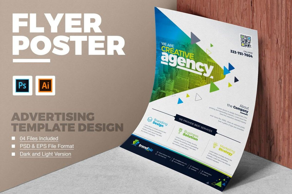 TrendBiz - Corporate Business Flyer Template, 08783, Business — PoweredTemplate.com