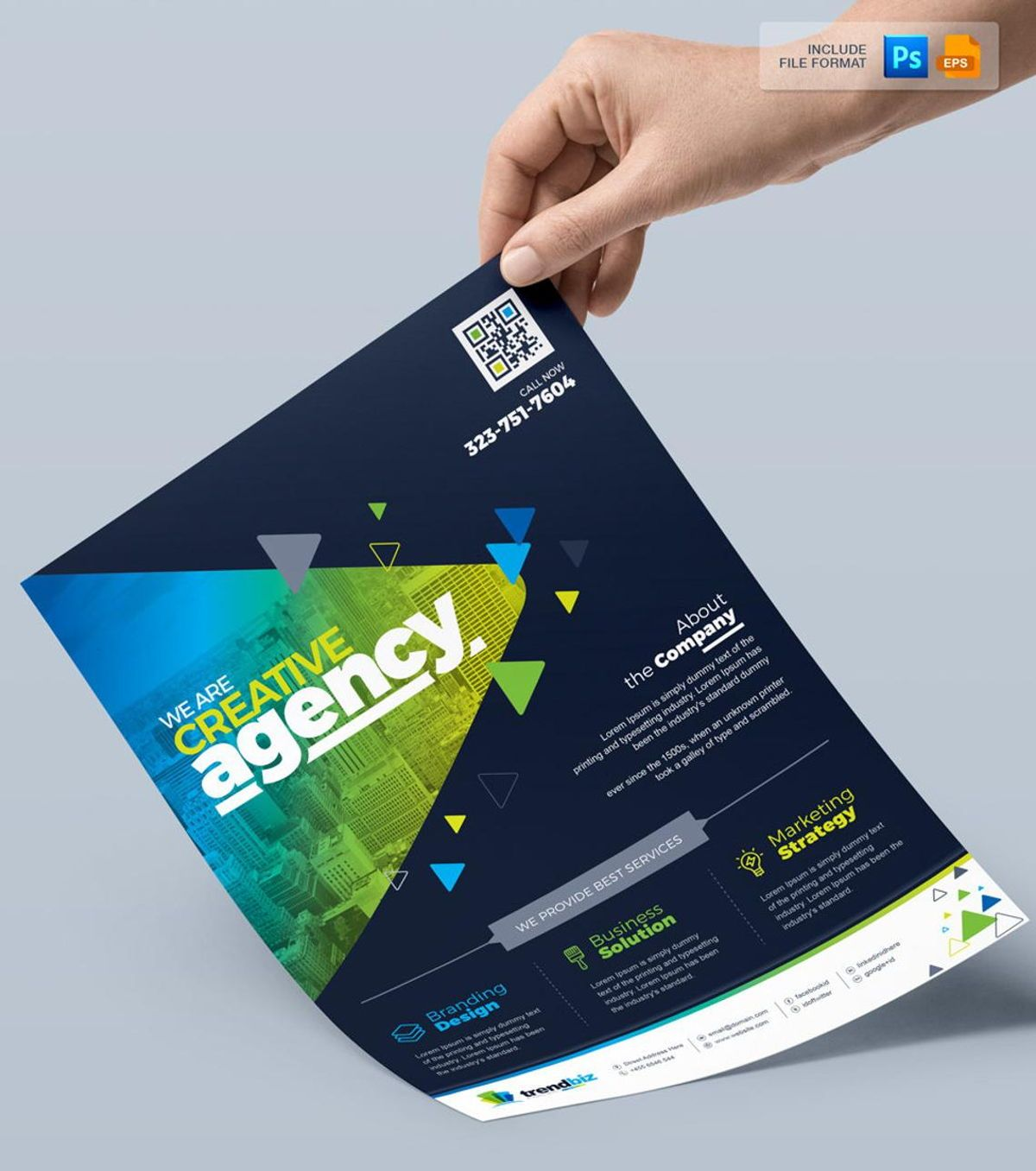 TrendBiz - Corporate Business Flyer Template, Slide 3, 08783, Business — PoweredTemplate.com
