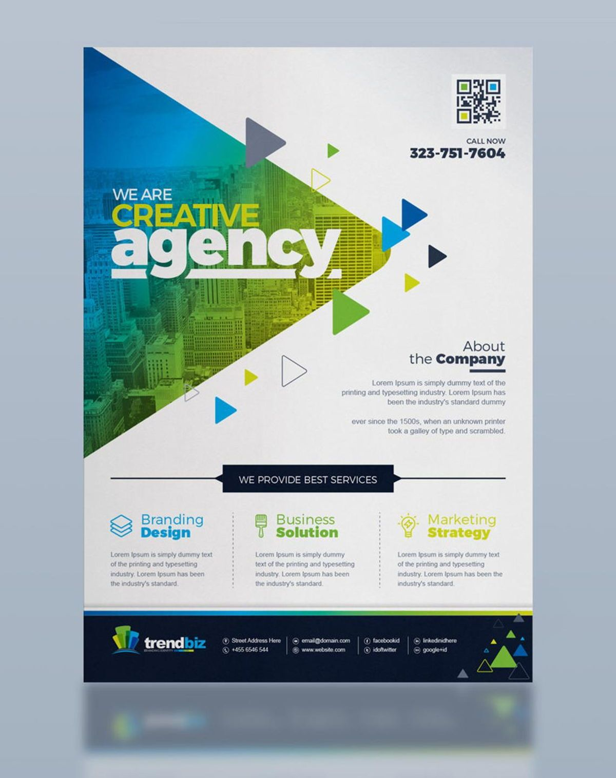 TrendBiz - Corporate Business Flyer Template, Slide 4, 08783, Business — PoweredTemplate.com