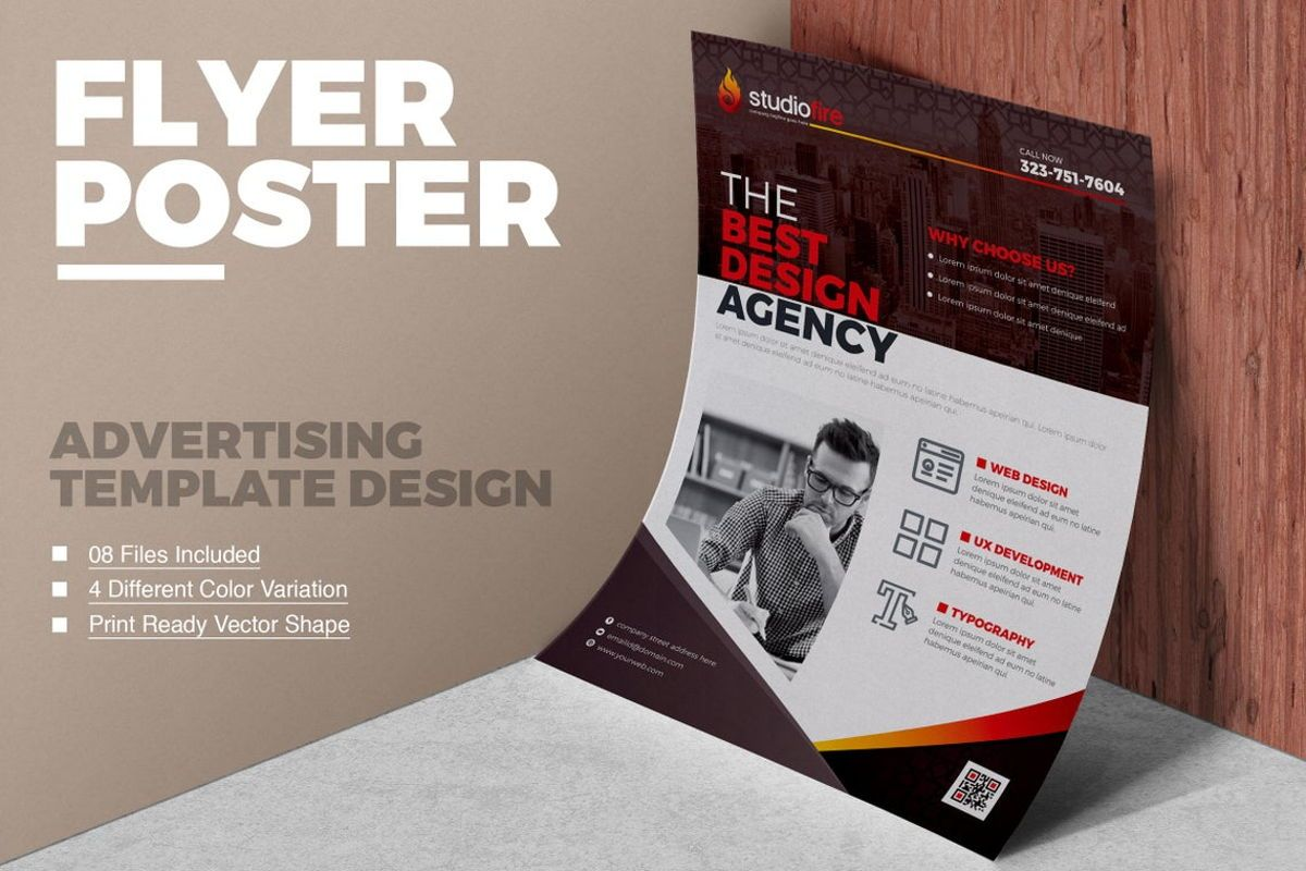 StudioFire - Corporate Flyer Design Template, 08785, Business — PoweredTemplate.com