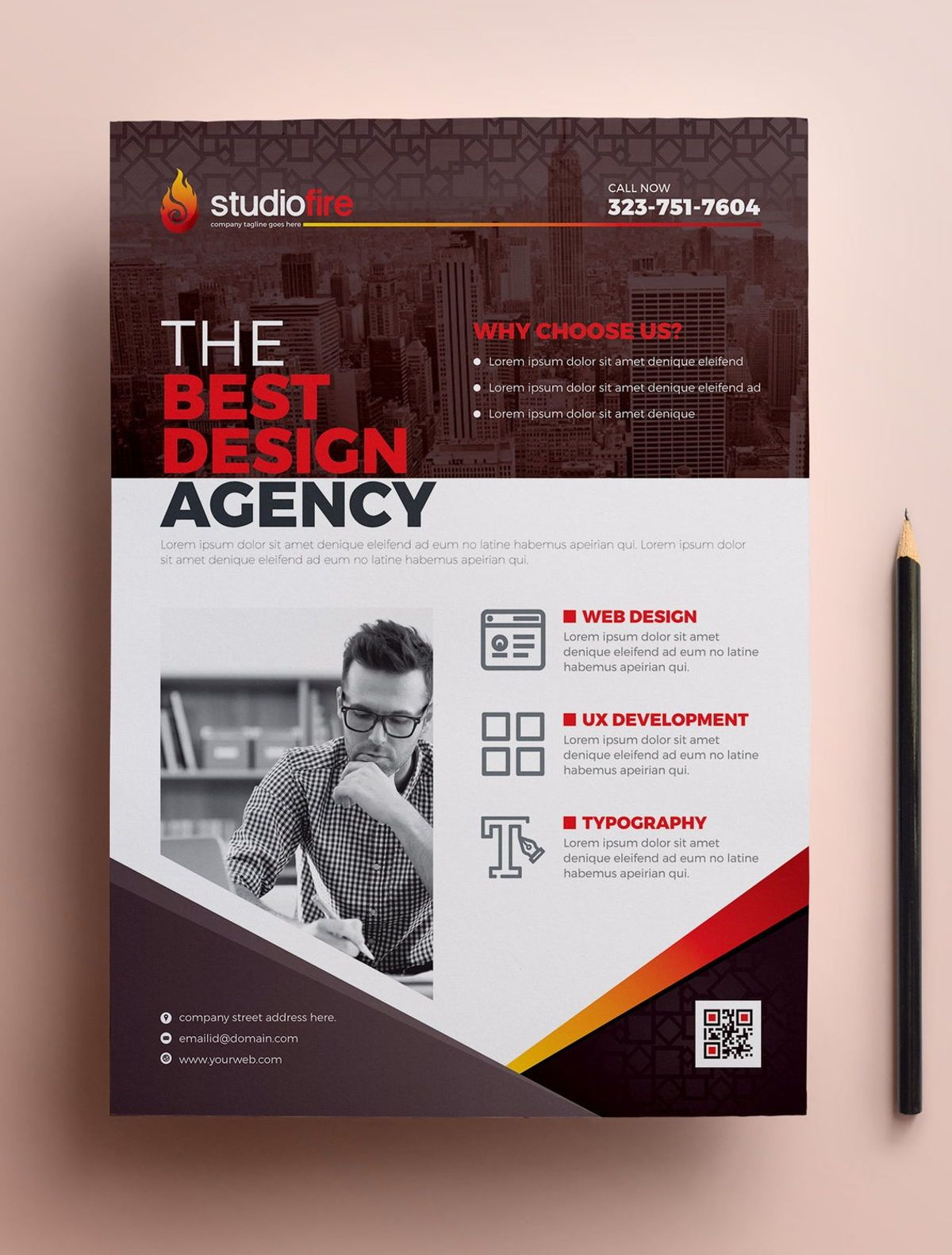 StudioFire - Corporate Flyer Design Template, Slide 5, 08785, Business — PoweredTemplate.com