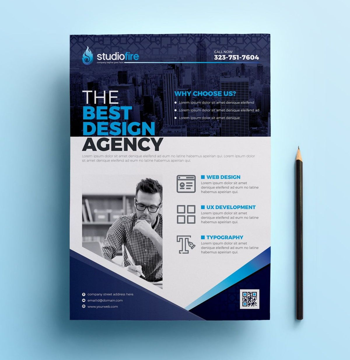 StudioFire - Corporate Flyer Design Template, Slide 7, 08785, Business — PoweredTemplate.com