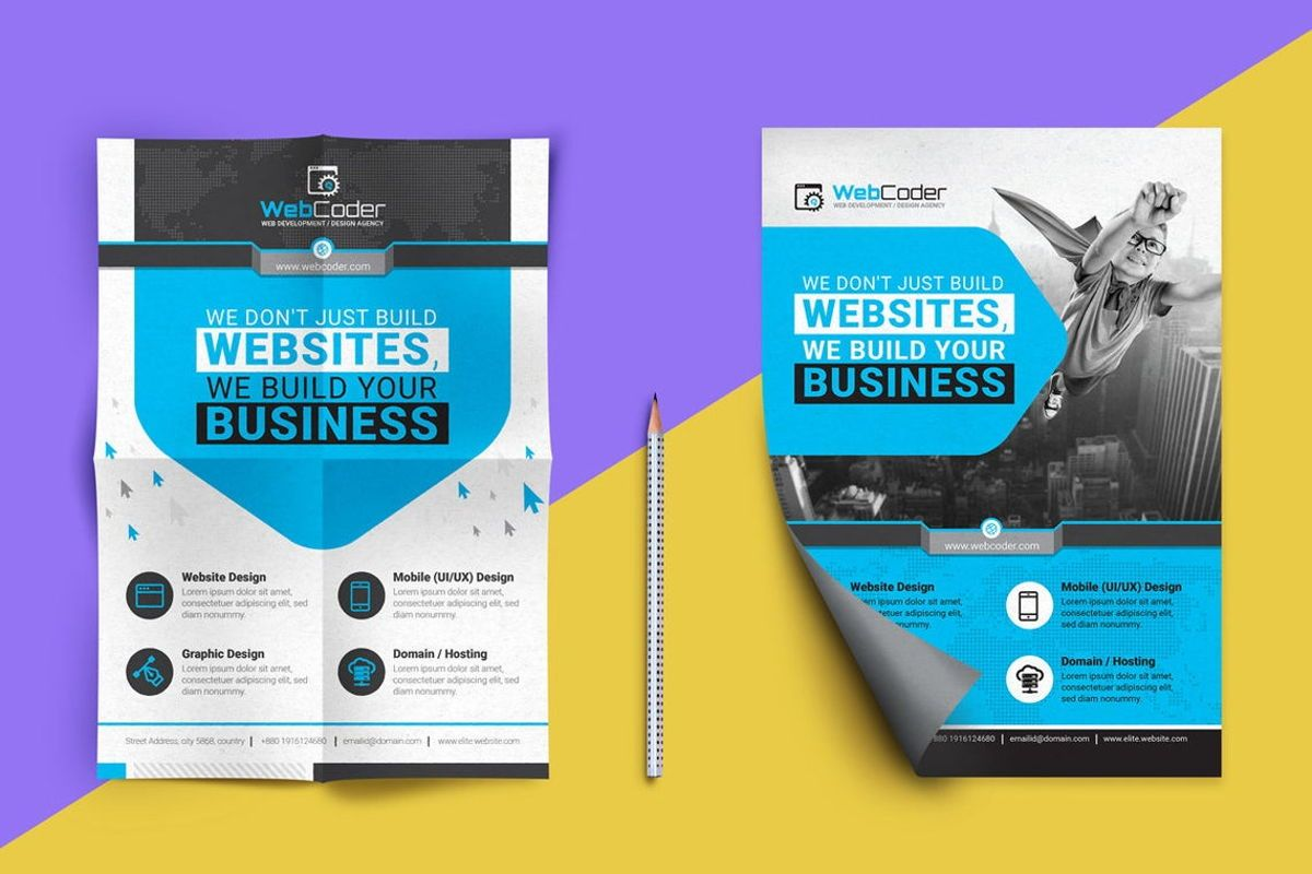 WebCoder - Web Design and Development Agency Flyer Template, Slide 2, 08786, Business — PoweredTemplate.com