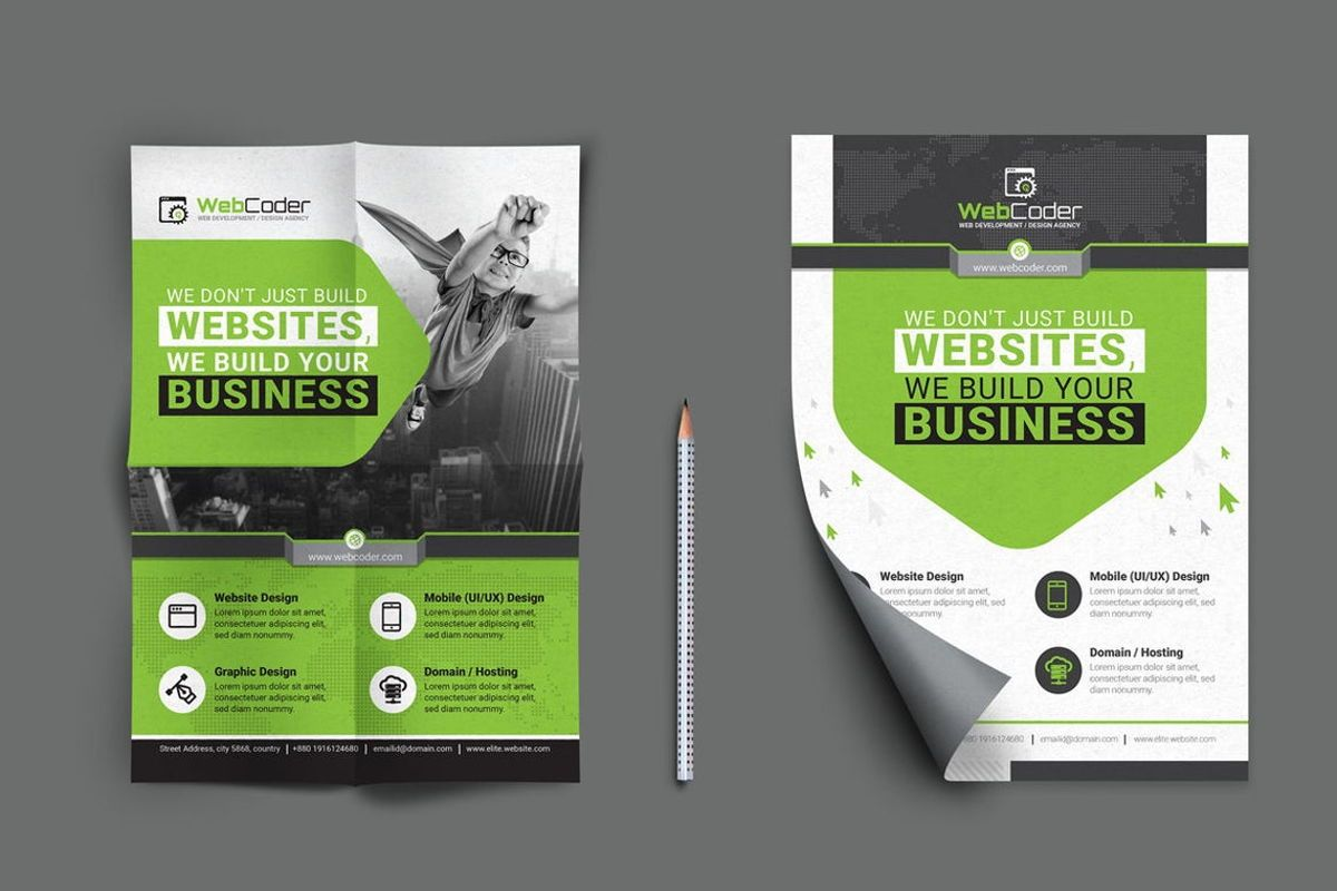 WebCoder - Web Design and Development Agency Flyer Template, Slide 3, 08786, Business — PoweredTemplate.com