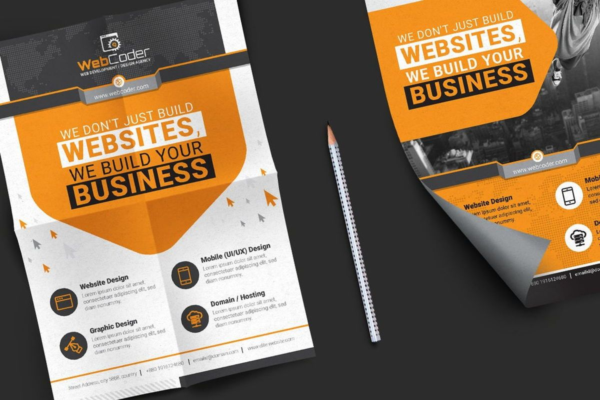 WebCoder - Web Design and Development Agency Flyer Template, Slide 4, 08786, Business — PoweredTemplate.com