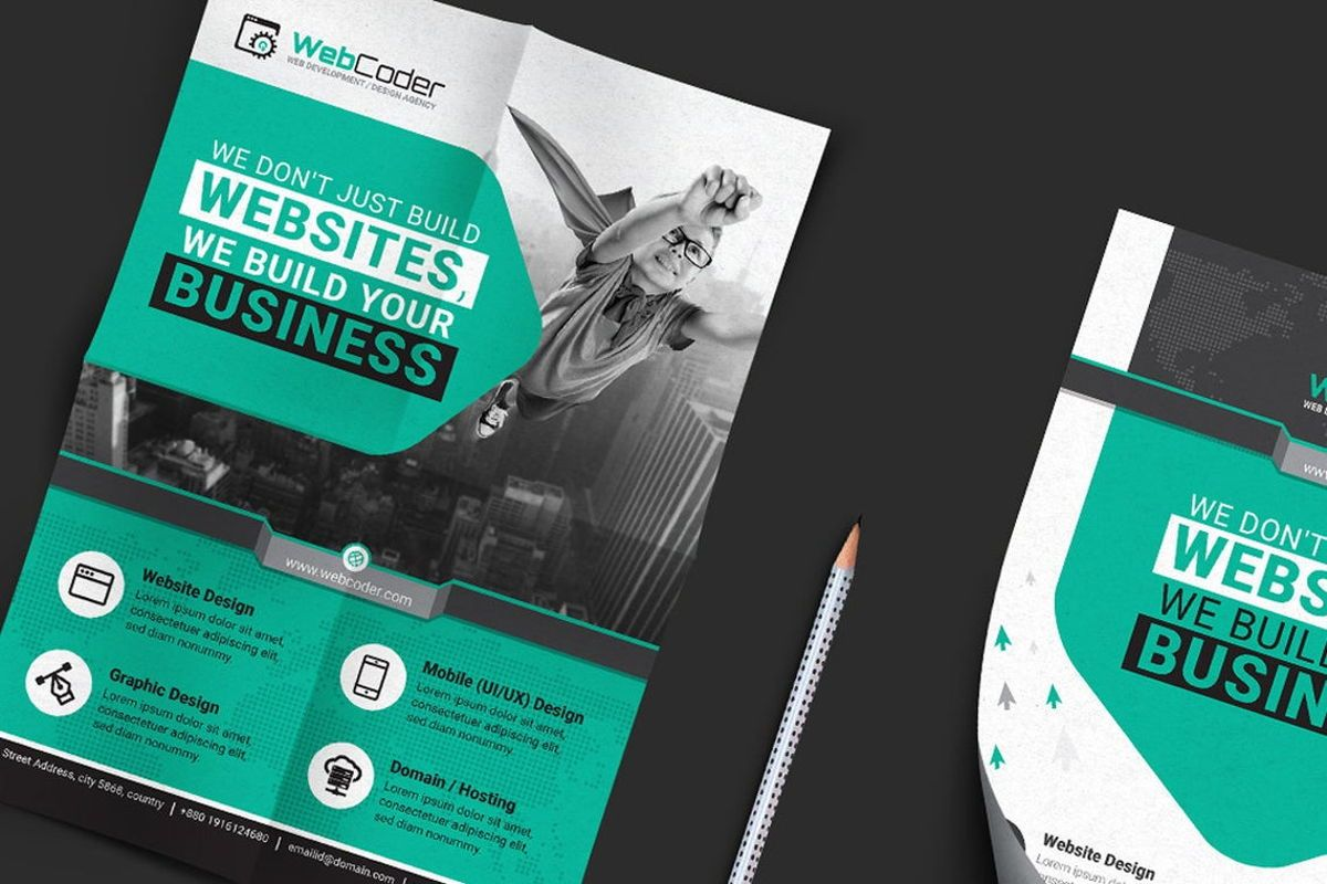 WebCoder - Web Design and Development Agency Flyer Template, Slide 5, 08786, Business — PoweredTemplate.com