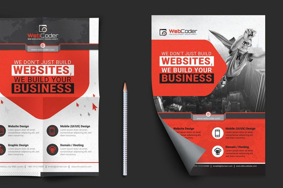 WebCoder - Web Design and Development Agency Flyer Template, Slide 6, 08786, Business — PoweredTemplate.com
