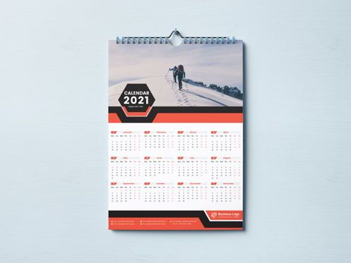 Business: One Page Wall Calendar 2021 #08787