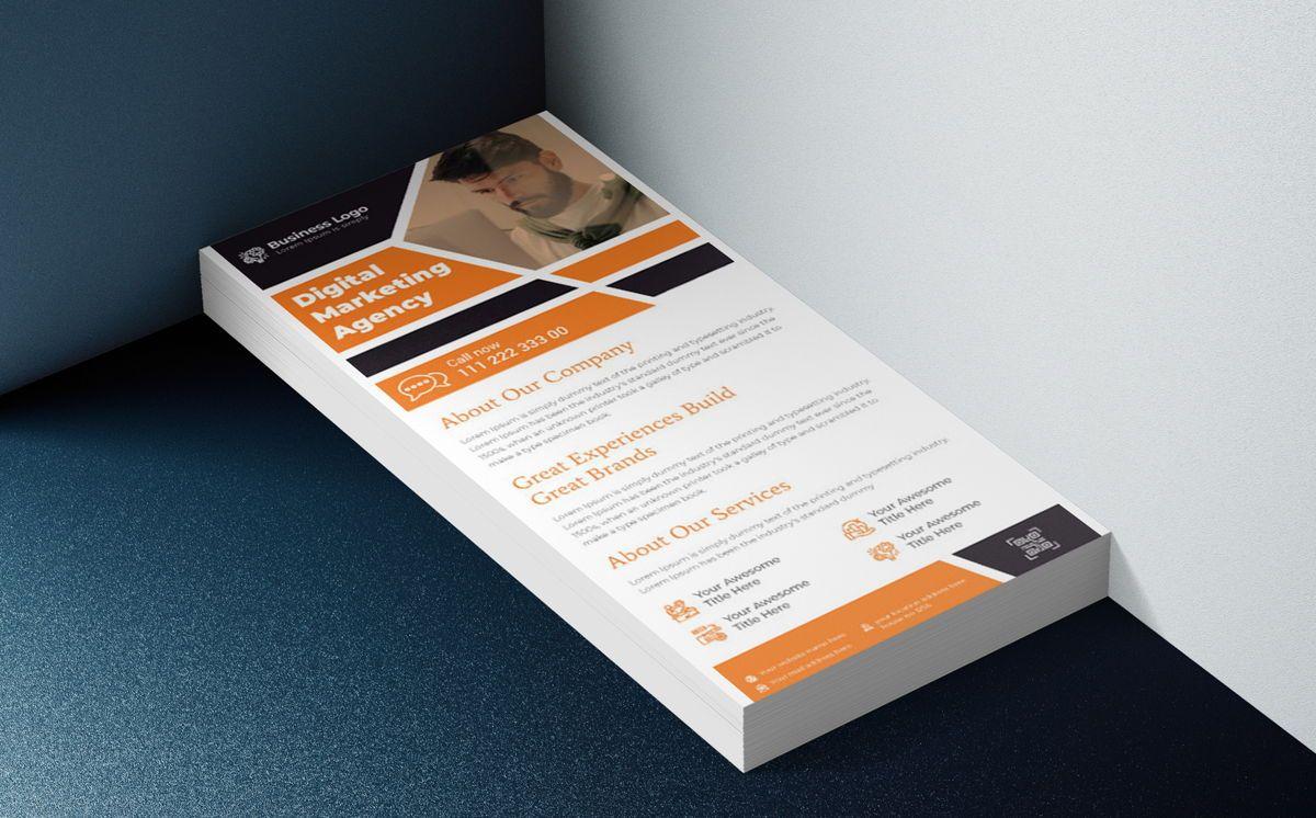 Digital Marketing DL Rack Card Or Dl Flyer Template, Slide 2, 08788, Bisnis — PoweredTemplate.com