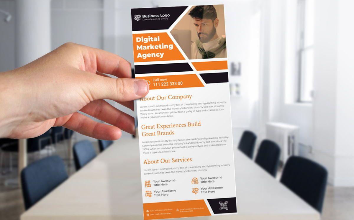 Digital Marketing DL Rack Card Or Dl Flyer Template, Slide 3, 08788, Bisnis — PoweredTemplate.com