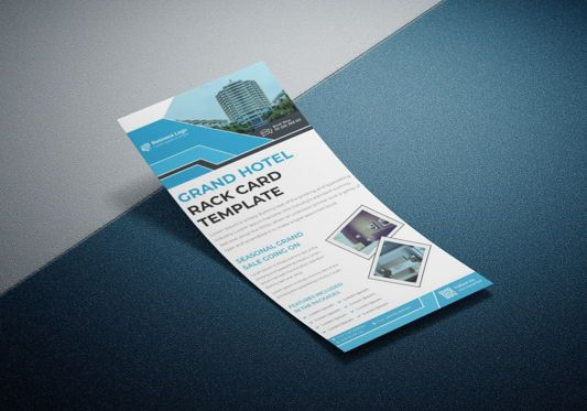 Business: Grand Hotel Services Promotional Rack Card Or Dl Flyer Template #08789