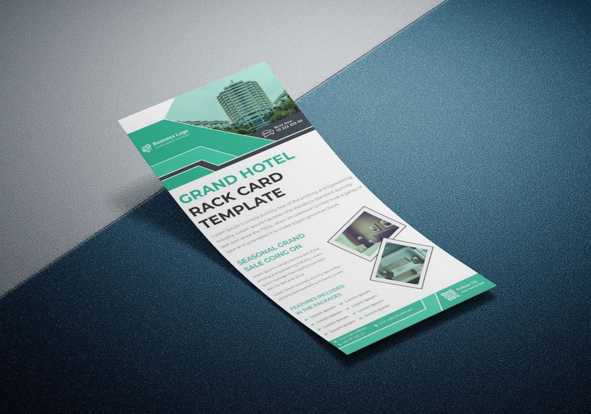 Grand Hotel Services Promotional Rack Card Or Dl Flyer Template, Slide 2, 08789, Business — PoweredTemplate.com