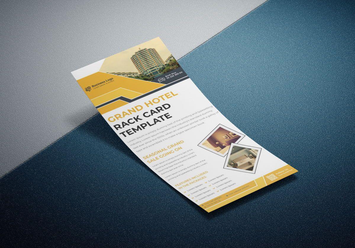 Grand Hotel Services Promotional Rack Card Or Dl Flyer Template, Slide 3, 08789, Business — PoweredTemplate.com