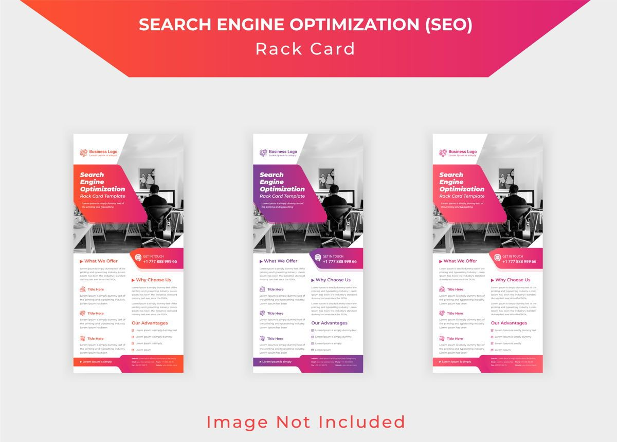 Search engine optimization SEO Roll up or dl flyer template, 08790, Business — PoweredTemplate.com