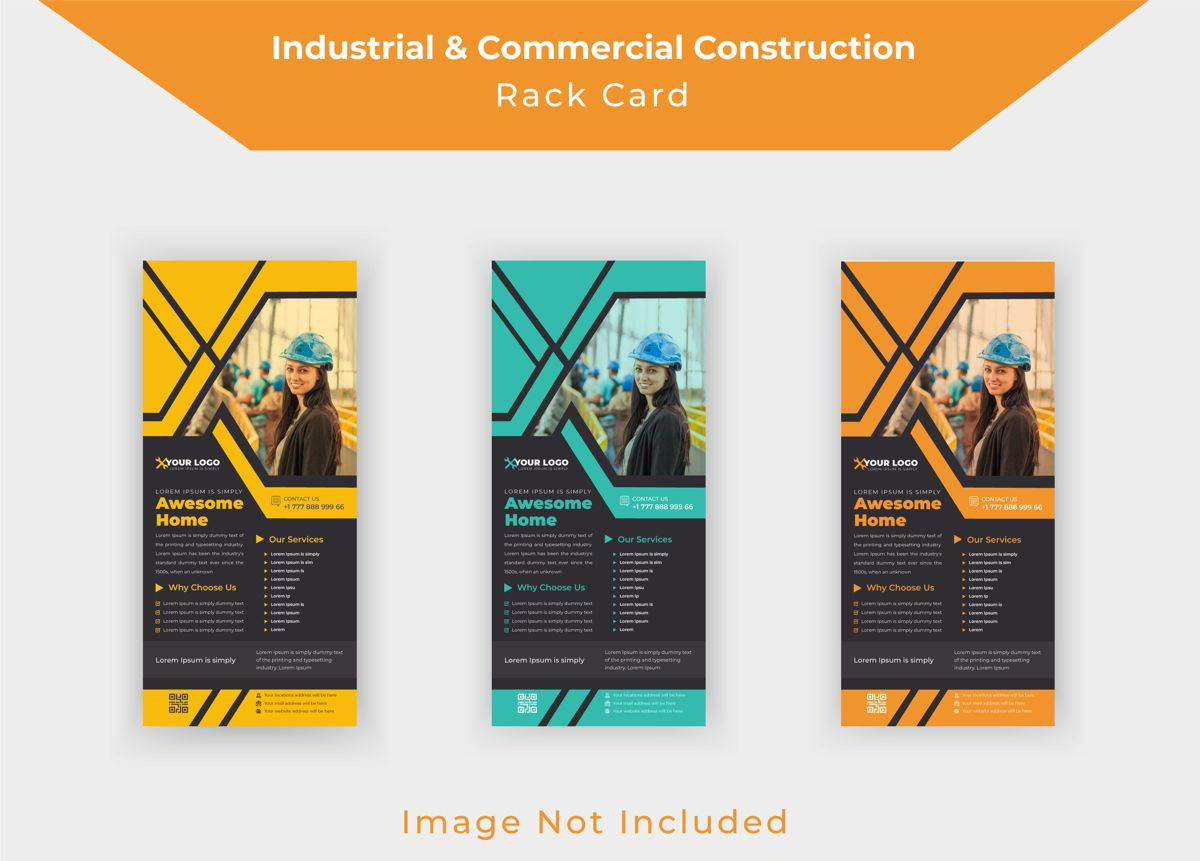 Industrial commercial construction Rack Card Or Dl Flyer template, Slide 2, 08791, Business — PoweredTemplate.com