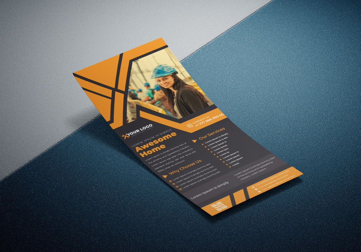 Industrial commercial construction Rack Card Or Dl Flyer template, Slide 3, 08791, Business — PoweredTemplate.com