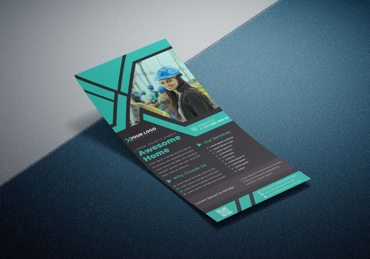 Industrial commercial construction Rack Card Or Dl Flyer template, Slide 4, 08791, Business — PoweredTemplate.com