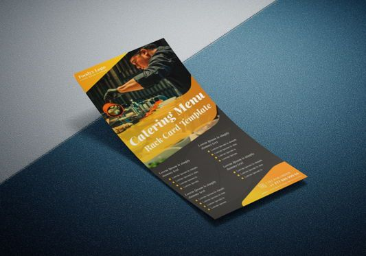 Business: Catering Menu Rack Card Or Dl Flyer Template #08792