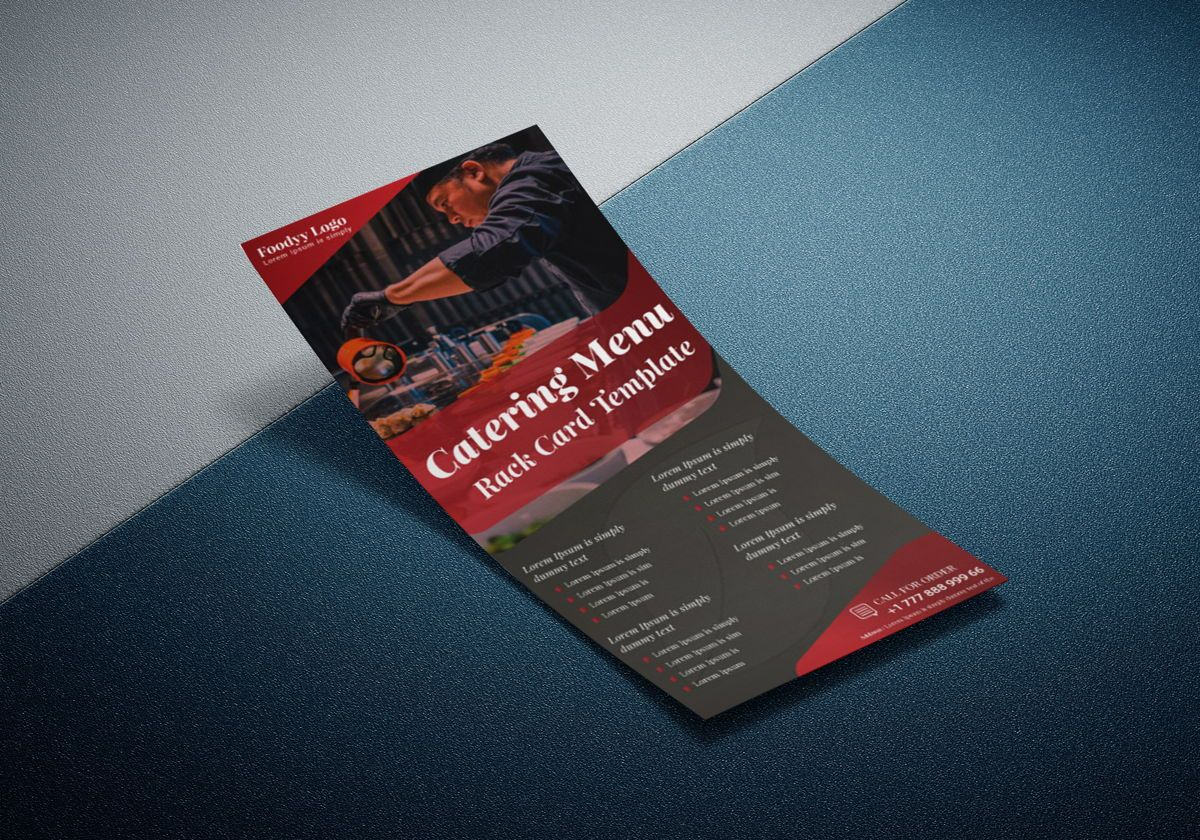 Catering Menu Rack Card Or Dl Flyer Template, Diapositive 2, 08792, Business — PoweredTemplate.com