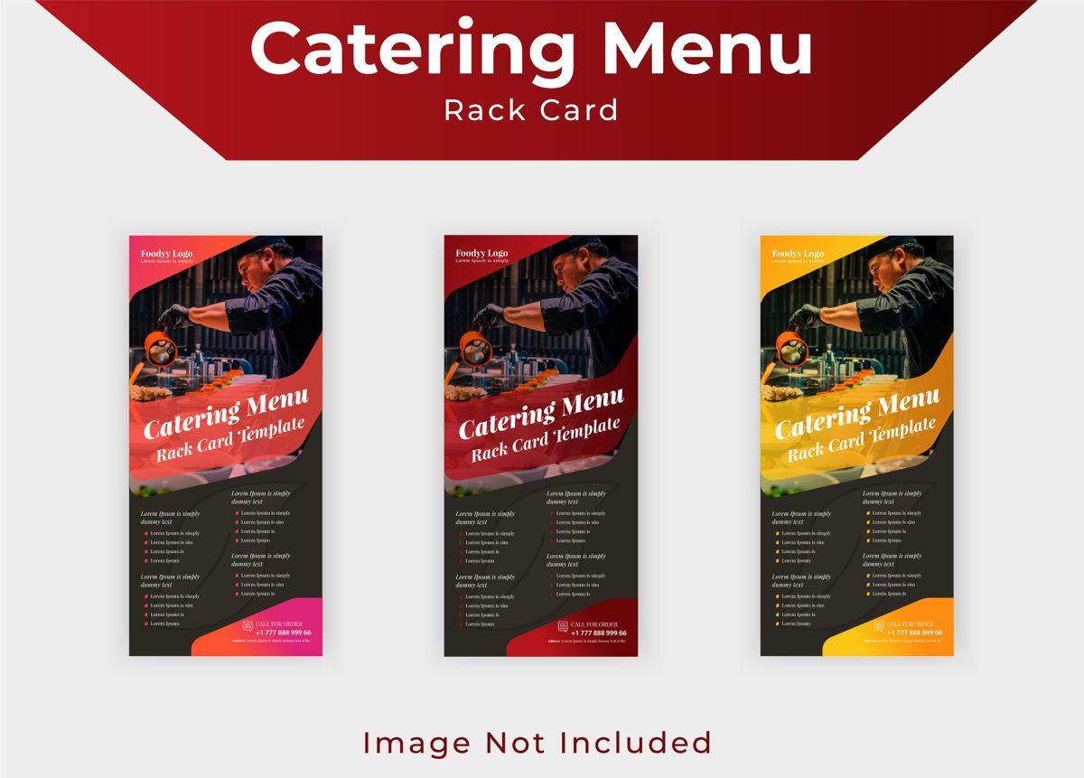 Catering Menu Rack Card Or Dl Flyer Template, Diapositive 3, 08792, Business — PoweredTemplate.com