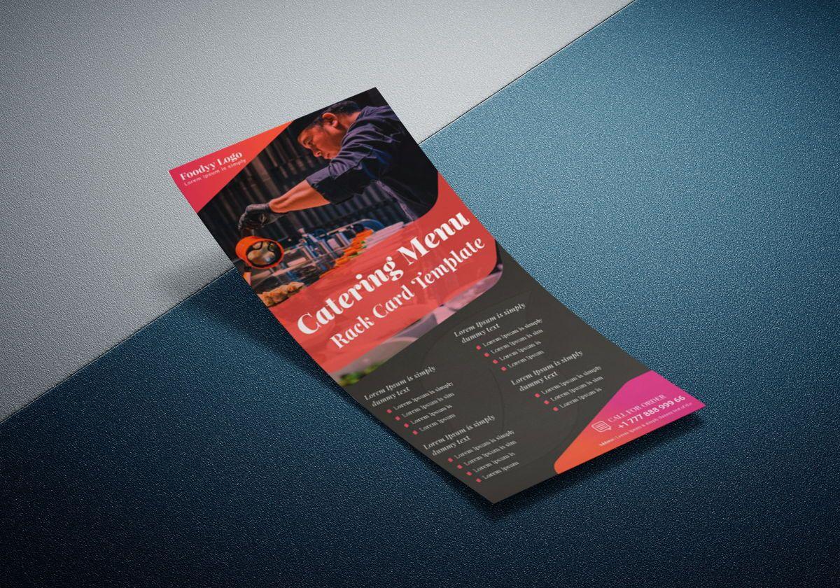 Catering Menu Rack Card Or Dl Flyer Template, Diapositive 4, 08792, Business — PoweredTemplate.com