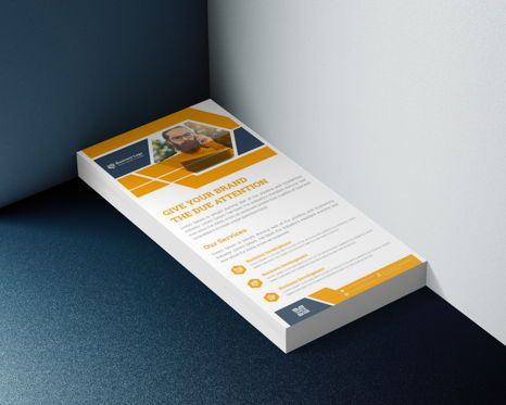 Business: Latest Advertising Agency Services Rack Card Or Dl Flyer Template #08793