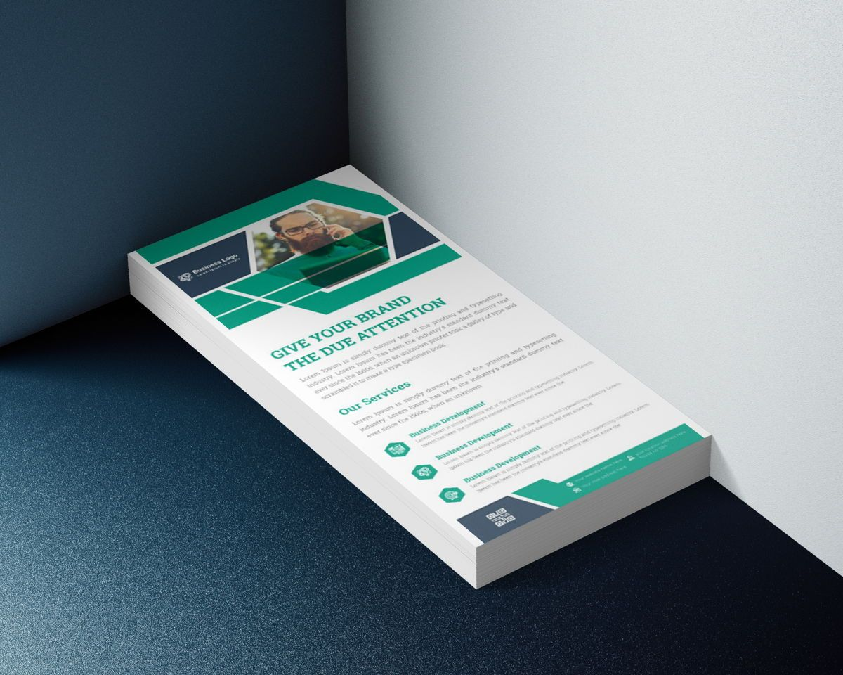Latest Advertising Agency Services Rack Card Or Dl Flyer Template, Slide 2, 08793, Business — PoweredTemplate.com