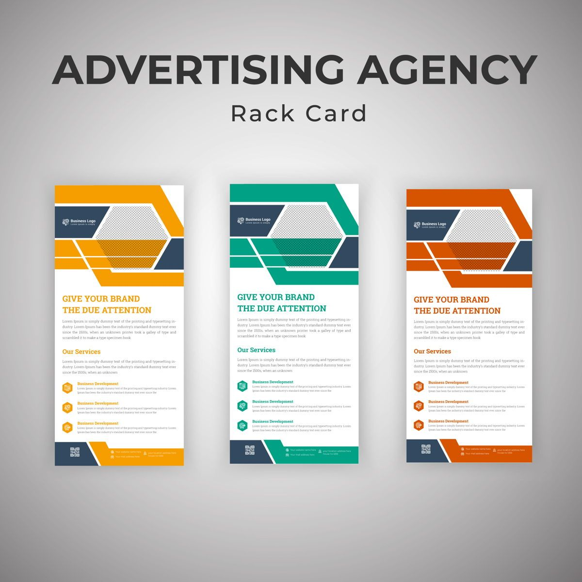 Latest Advertising Agency Services Rack Card Or Dl Flyer Template, Slide 3, 08793, Business — PoweredTemplate.com